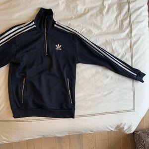 "Adidas Blue pullover ""warm-up"" sweatshirt"